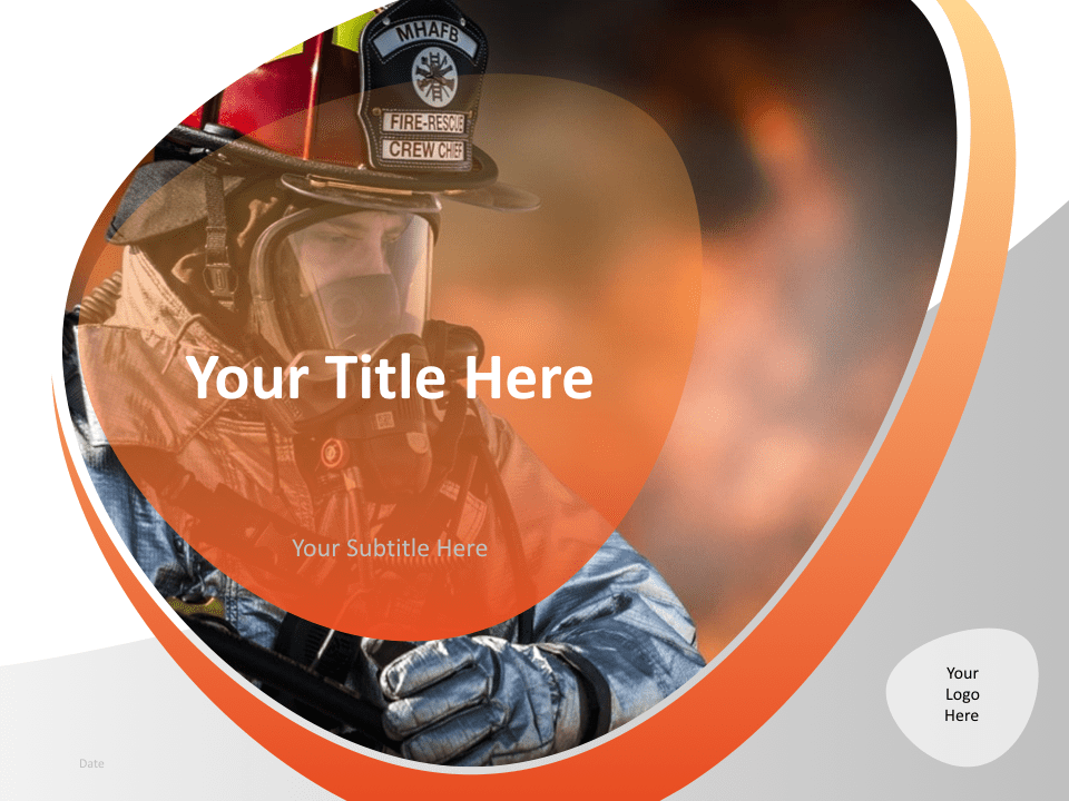 01 Firefighter Template Cover Slide for Keynote