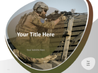 01 Military Template Cover Slide for Keynote
