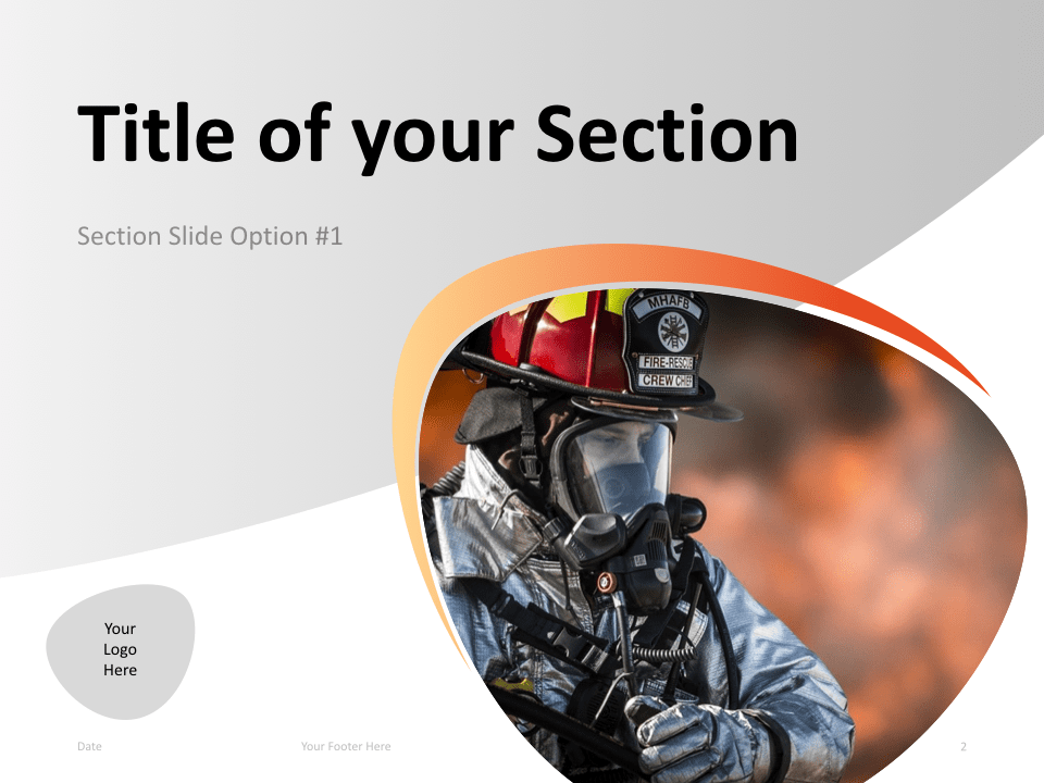 02 Firefighter Template Section Slide 1 for Keynote