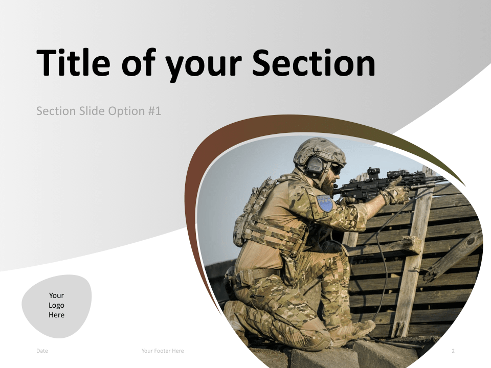 02 Military Template Section Slide 1 for Keynote