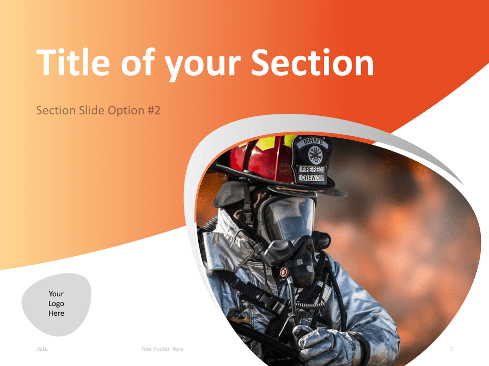 03 Firefighter Template Section Slide 2 for Keynote