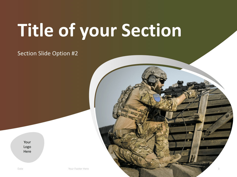 03 Military Template Section Slide 2 for Keynote