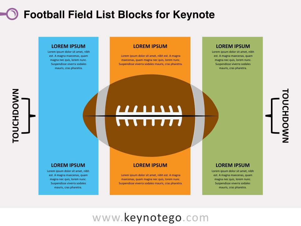 Football Field List Blocks for Keynote