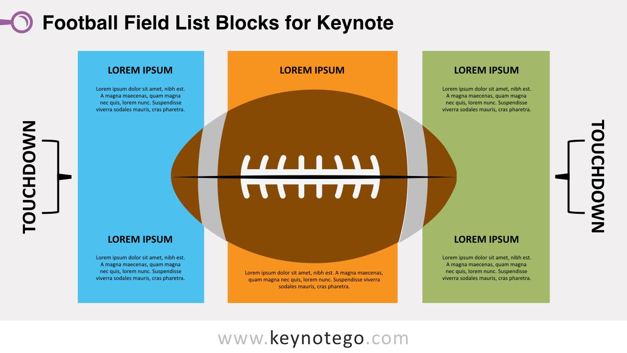 Football Field List for Keynote