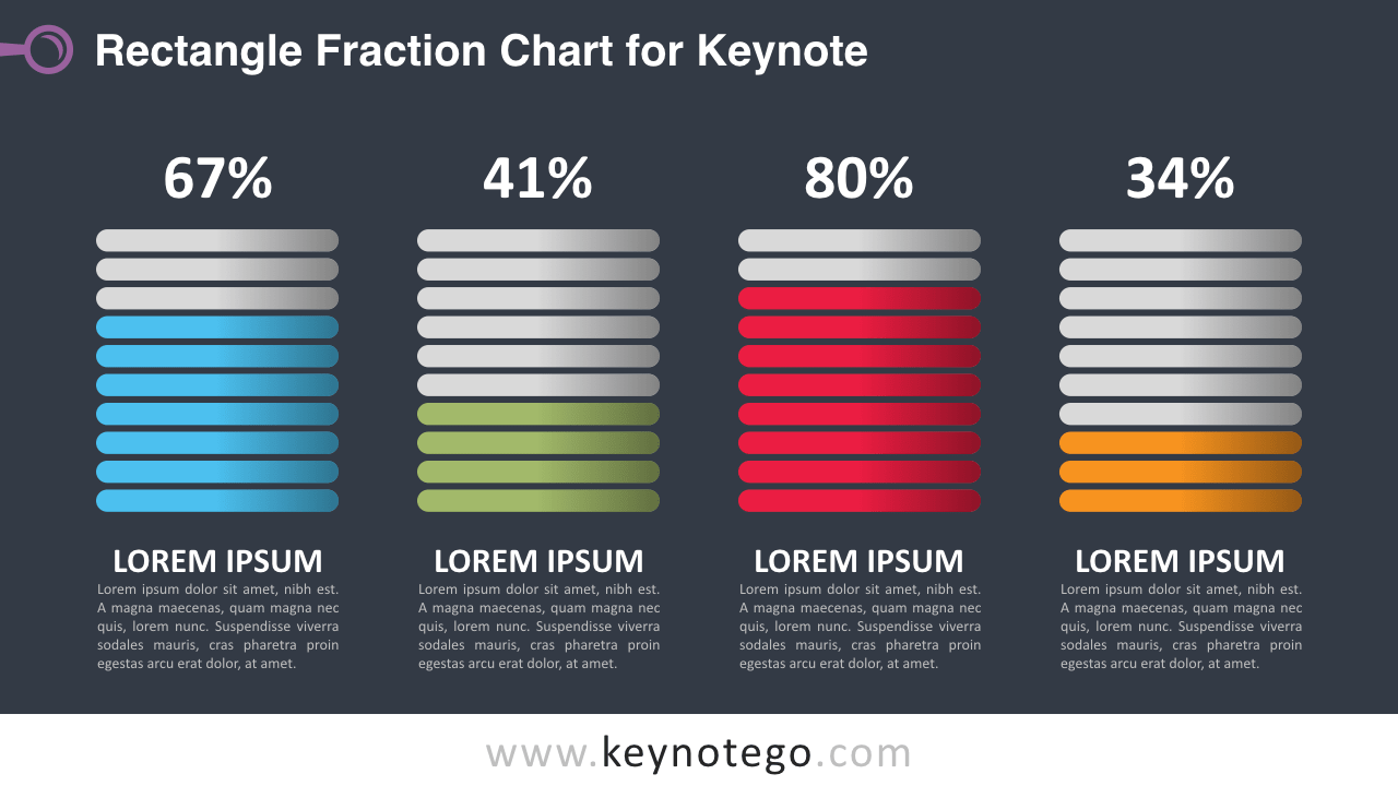 Fraction Chart Keynote Template - Dark Background