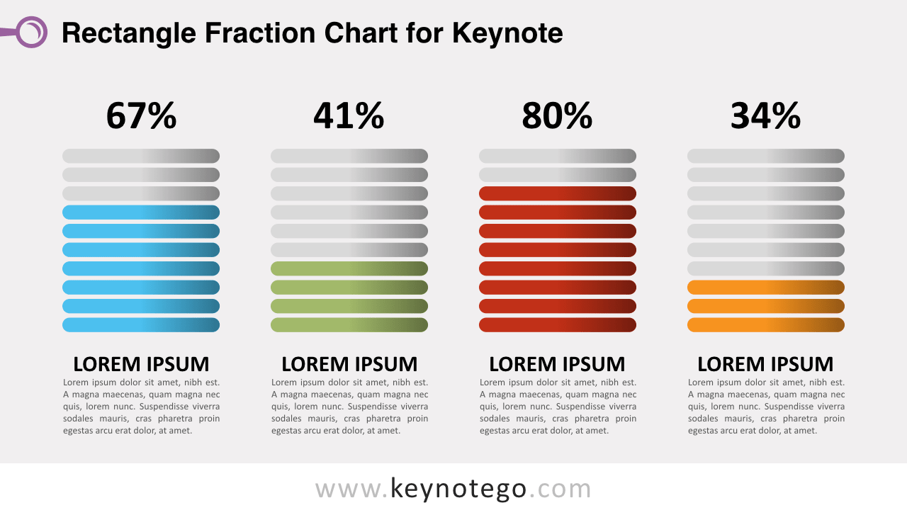 Fraction Chart Keynote Template