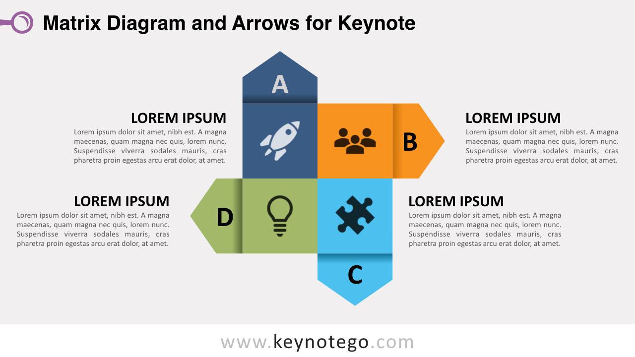 Free Matrix Diagram Arrows Keynote Template
