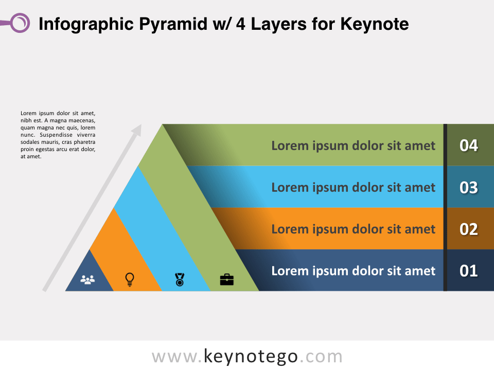 Infographic Pyramid 4 Layers for Keynote