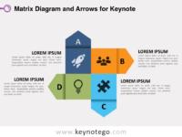 Matrix Diagram Arrows for Keynote