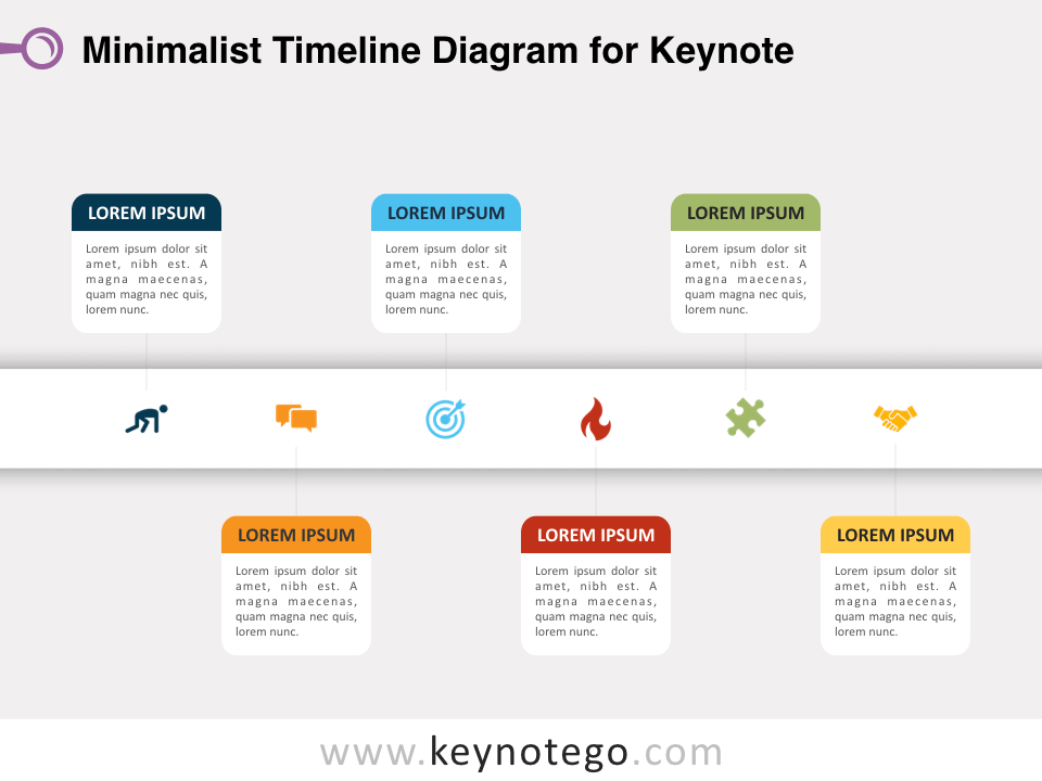 Minimalist Timeline Diagram for Keynote