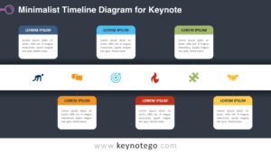Minimalist Timeline Keynote Template - Dark Background