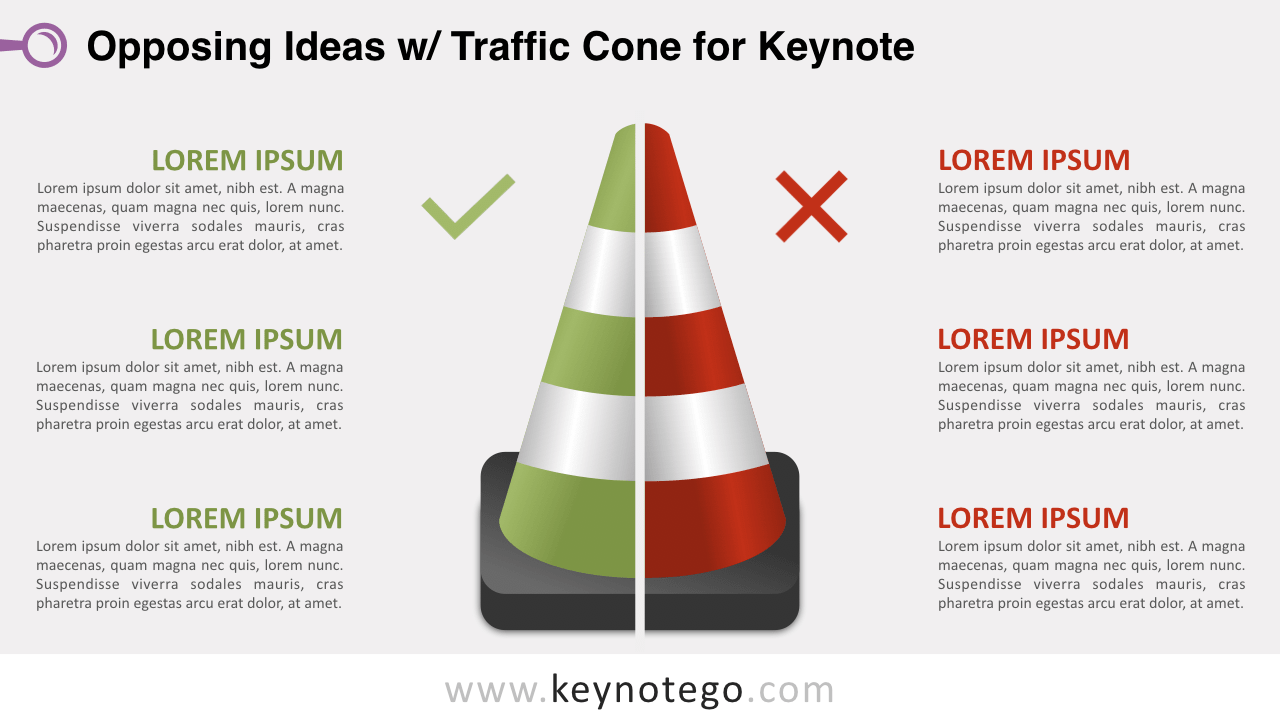 Opposing Ideas Traffic Cone Keynote Template