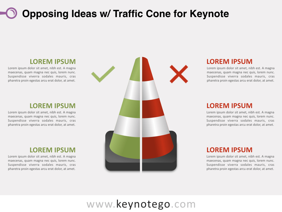 Opposing Ideas Traffic Cone for Keynote
