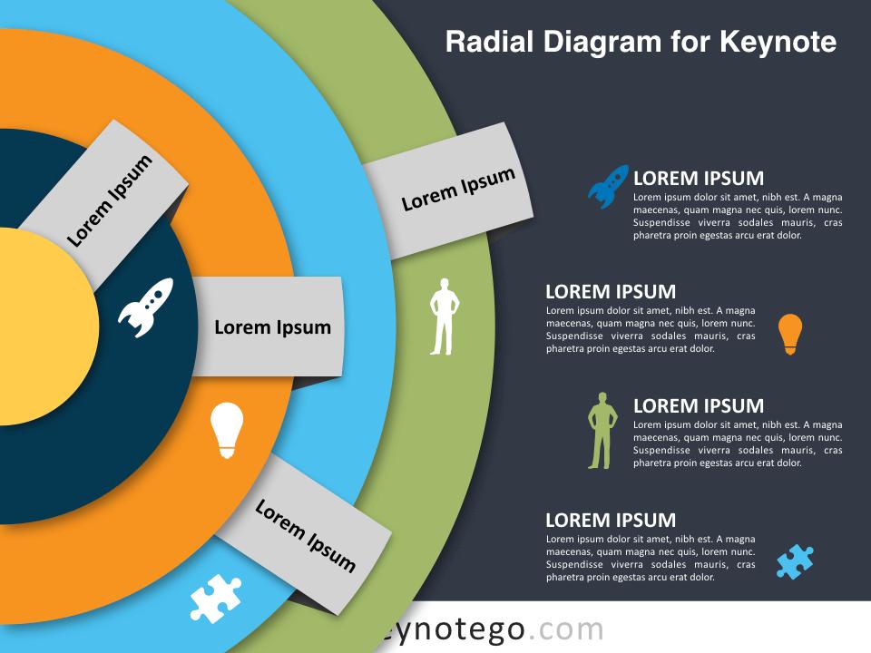 Radial Diagram for Keynote - Dark Background