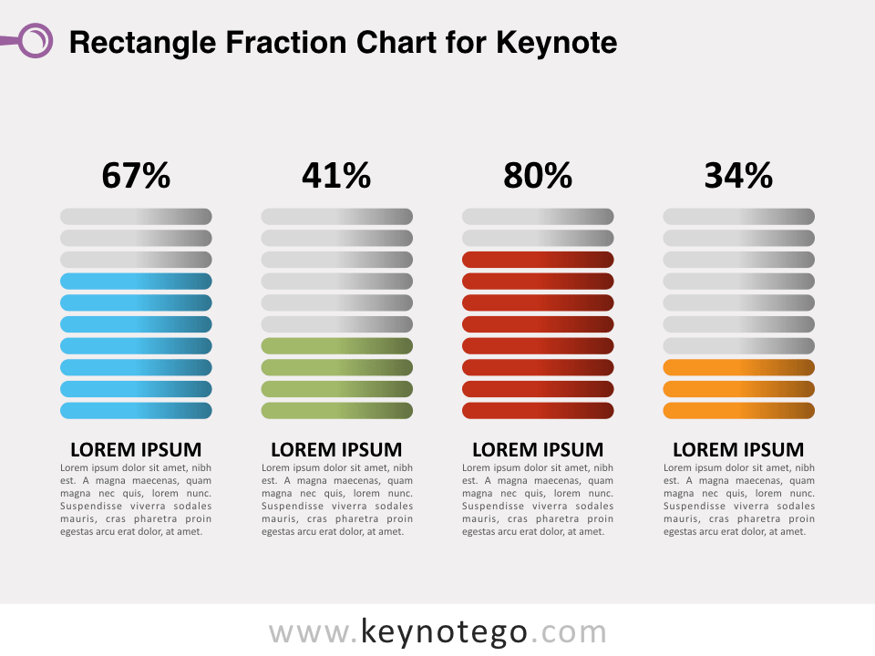Rectangle Fraction Chart for Keynote
