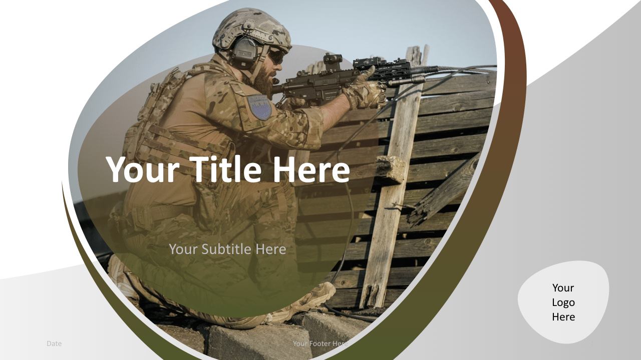 Slide 1 Military Keynote Template Cover