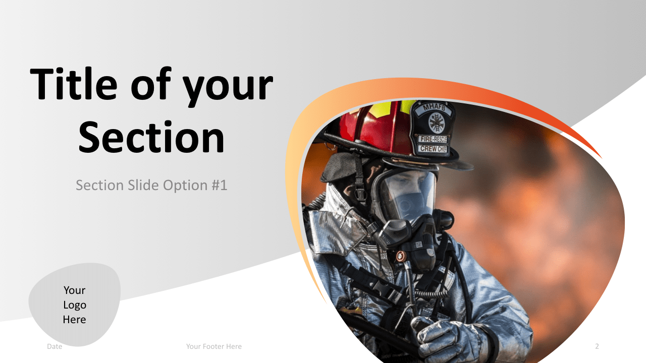 Slide 2 Firefighter Keynote Template Section 1