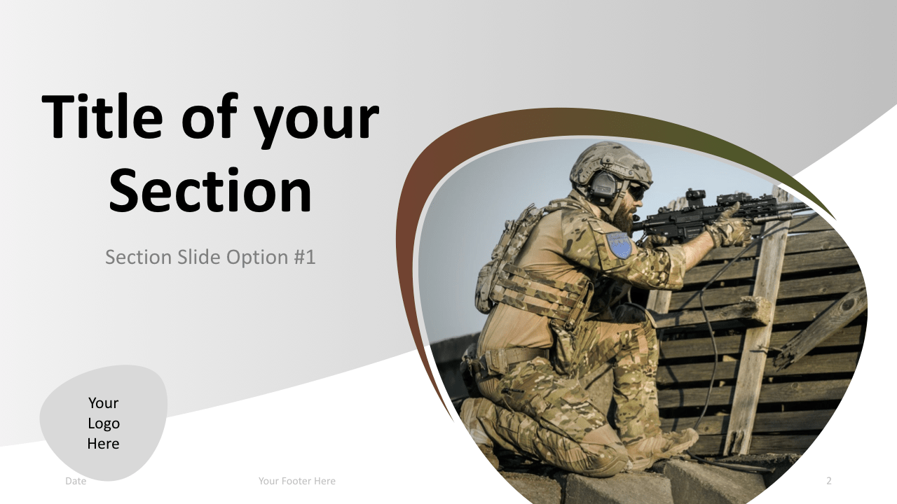 Slide 2 Military Keynote Template Section 1
