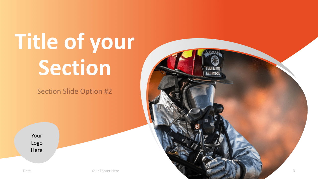 Slide 3 Firefighter Keynote Template Section 2