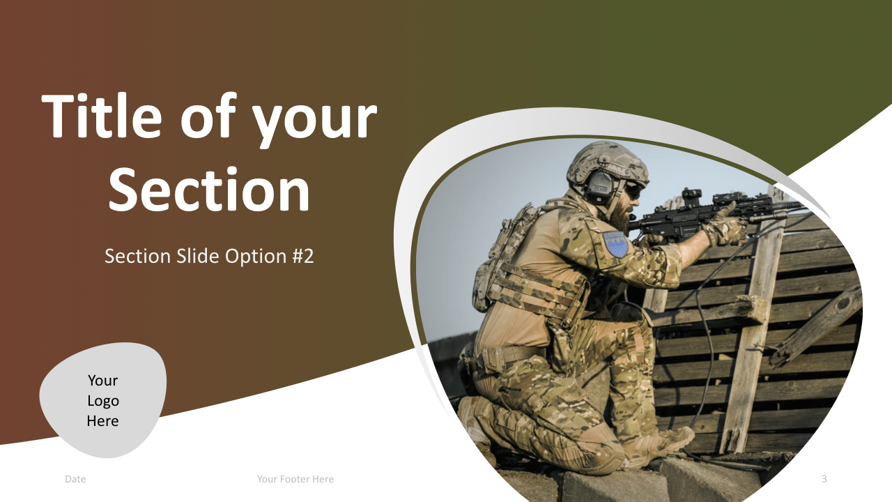 Slide 3 Military Keynote Template Section 2