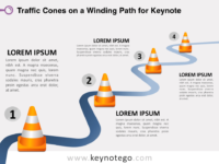 Traffic Cones Winding Path for Keynote
