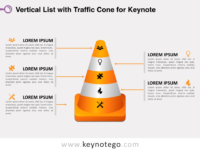 Vertical List Traffic Cone for Keynote