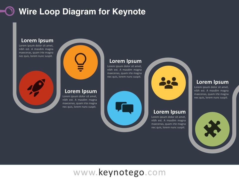 Wire Loop Diagram for Keynote - Dark Background