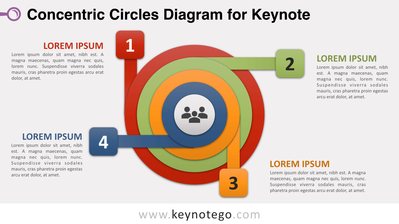 Concentric Circles Keynote Template