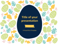 Flat Easter Keynote Template Style 1