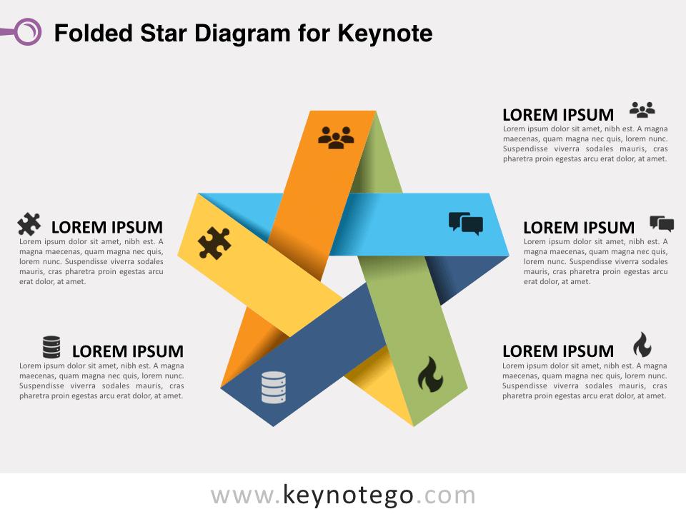 Folded Star Diagram for Keynote