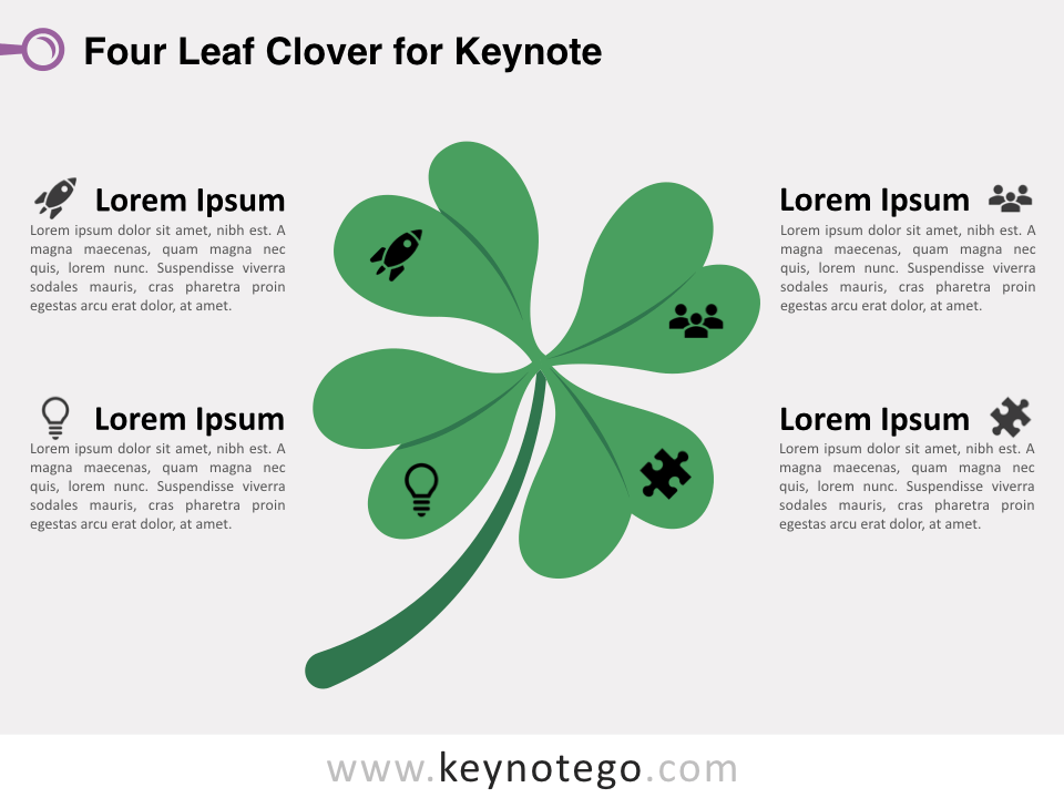 Four Leaf Clover for Keynote