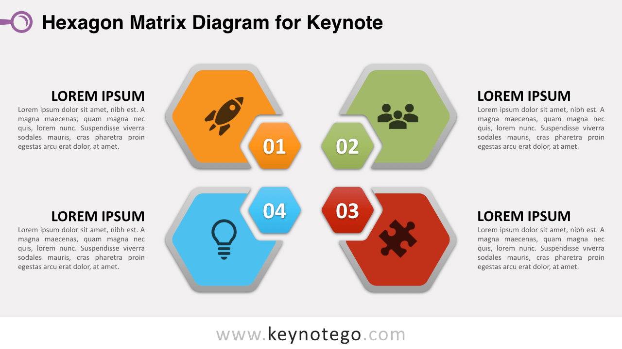 Hexagon Matrix Keynote Template