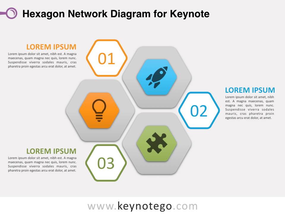 Hexagon Network Diagram for Keynote