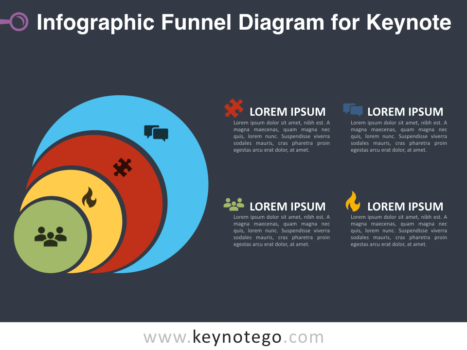 Infographic Funnel Diagram for Keynote - Dark Background