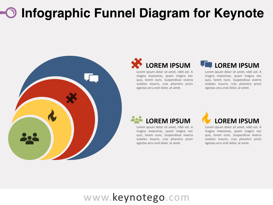 Infographic Funnel Diagram for Keynote