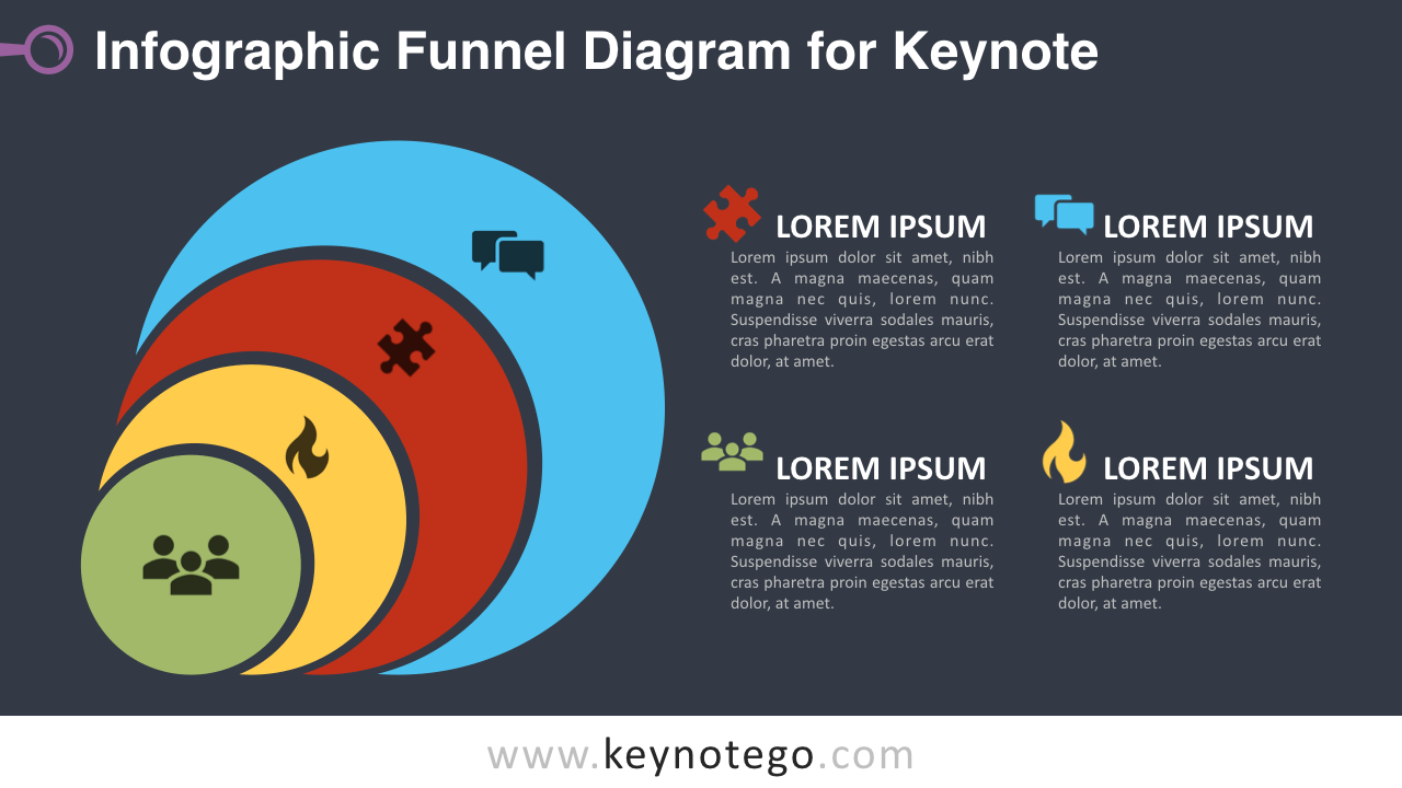 Infographic Funnel Keynote Template - Dark Background
