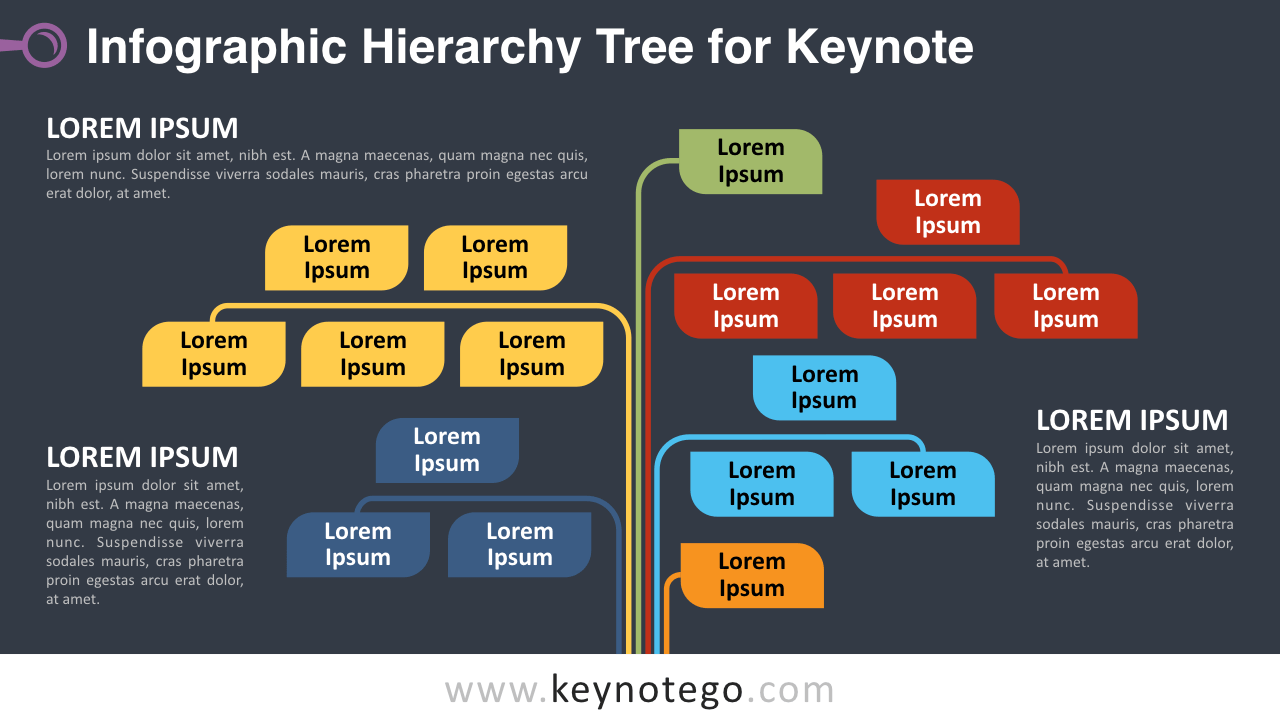 Infographic Tree Keynote Template - Dark Background