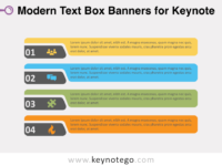 Modern Text Boxes for Keynote