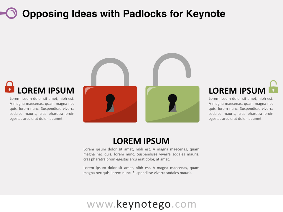 Opposing Ideas Padlocks for Keynote