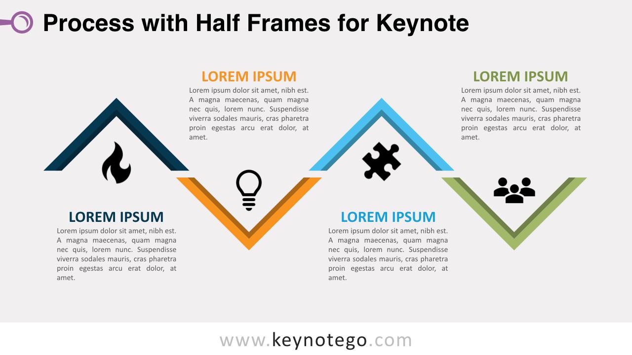 Process Diagram Half Frames Keynote Template