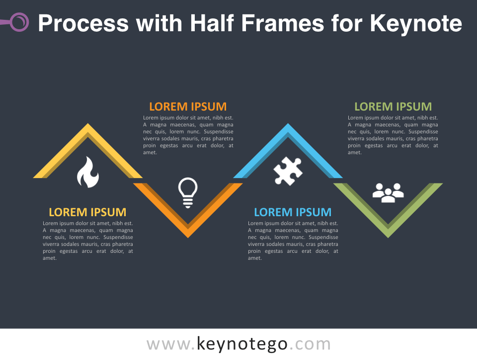 Process Half Frames for Keynote - Dark Background