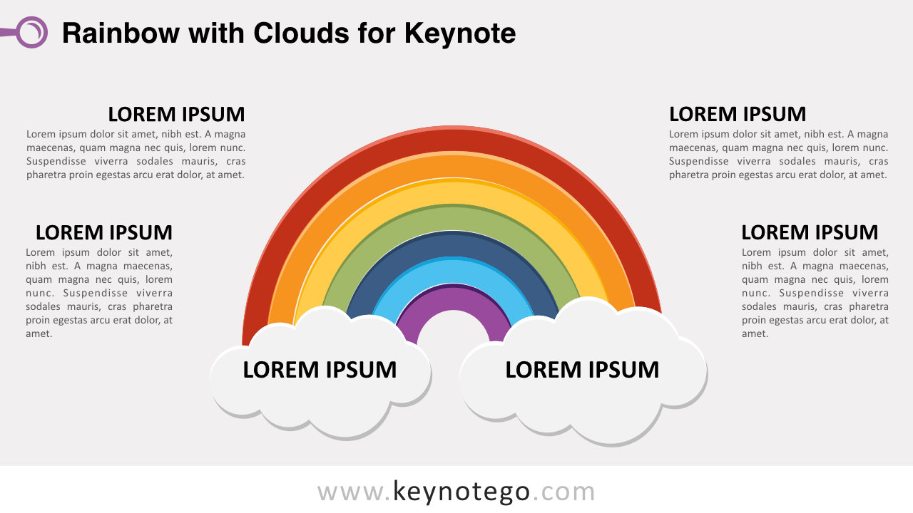Rainbow 2 Clouds Keynote Template