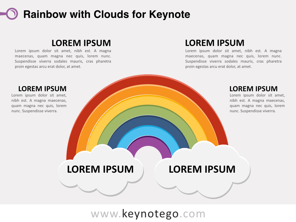 Rainbow Clouds for Keynote