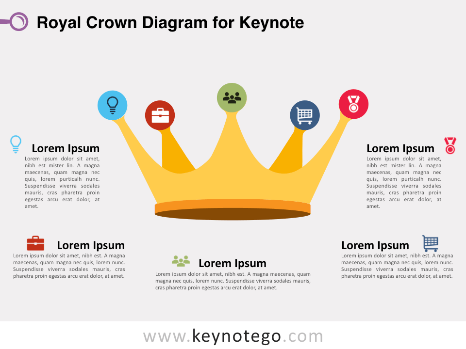 Royal Crown Diagram for Keynote