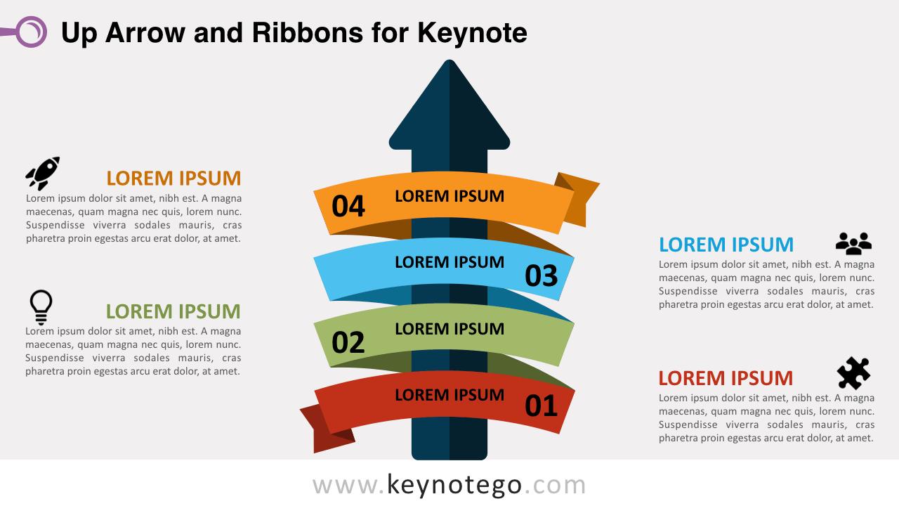 Up Arrow Ribbon Keynote Template