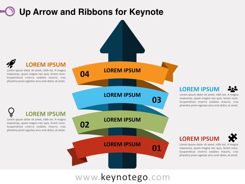 Up Arrow Ribbons for Keynote