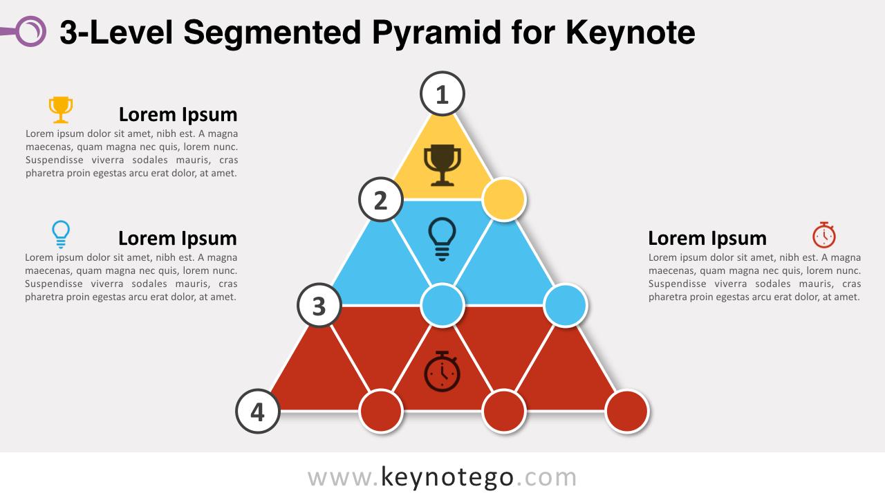3-Level Segmented Pyramid Keynote Template
