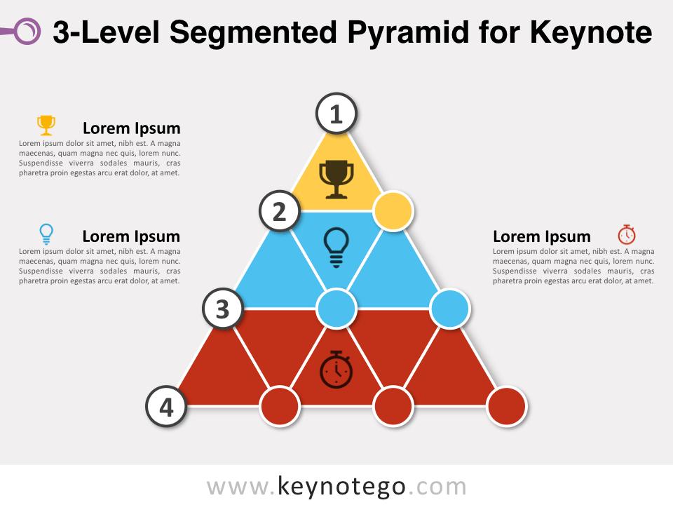 3 Level Segmented Pyramid for Keynote