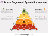 4 Level Segmented Pyramid for Keynote