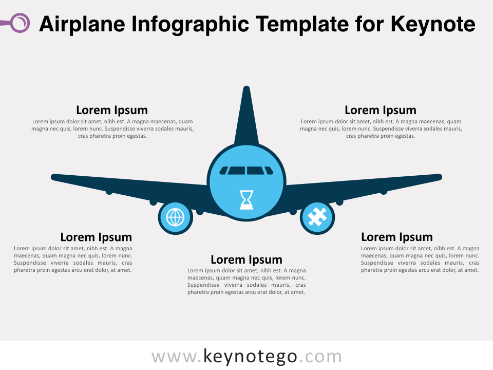 Airplane Infographic Template for Keynote